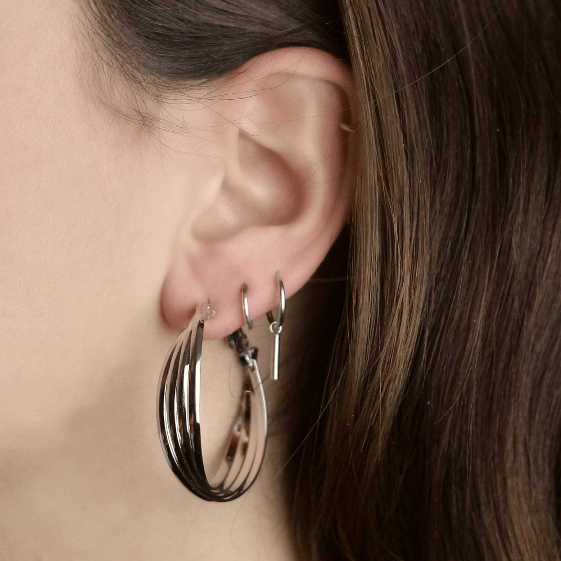 Take a Turn Earrings Silver