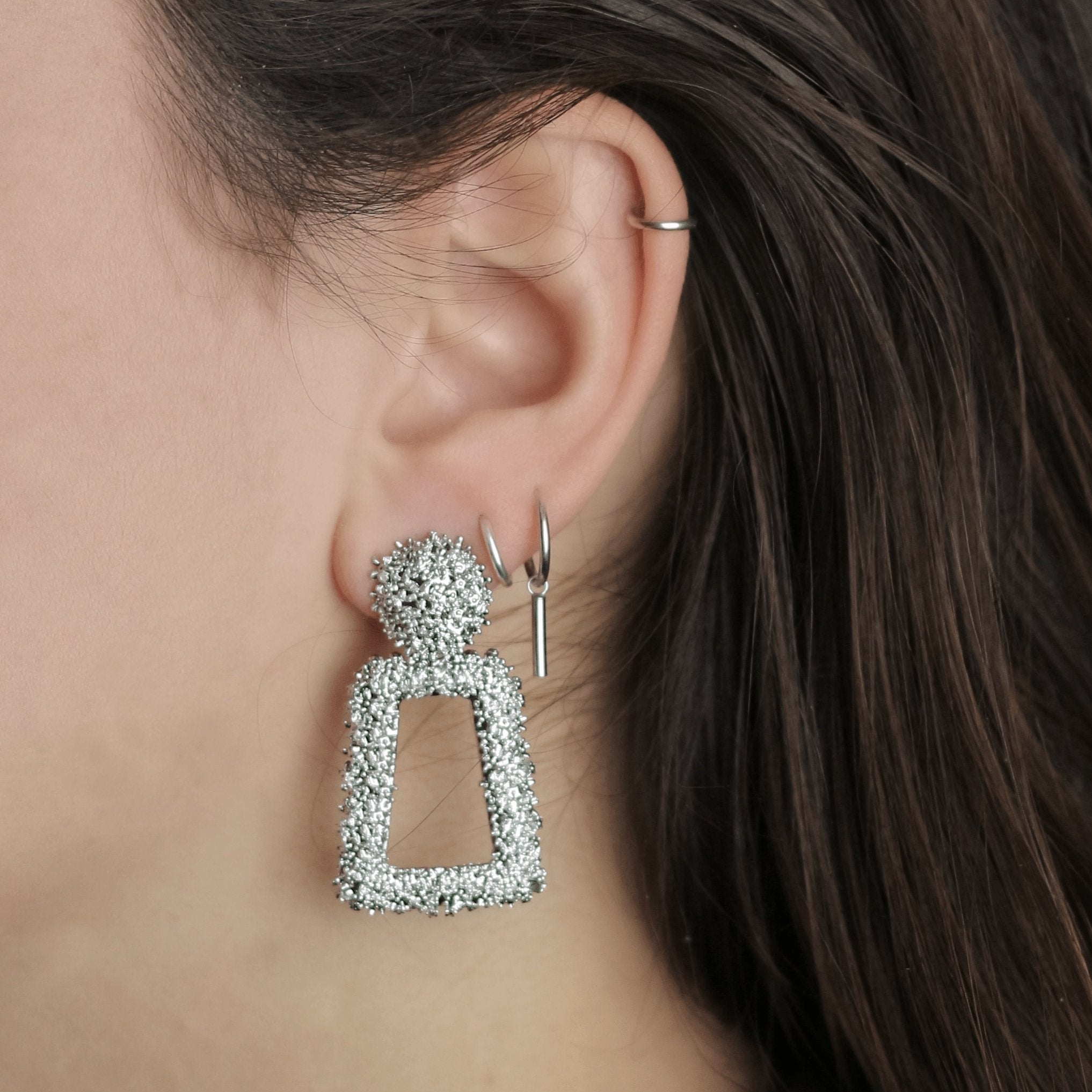 Bold And Beautiful Earrings Silver