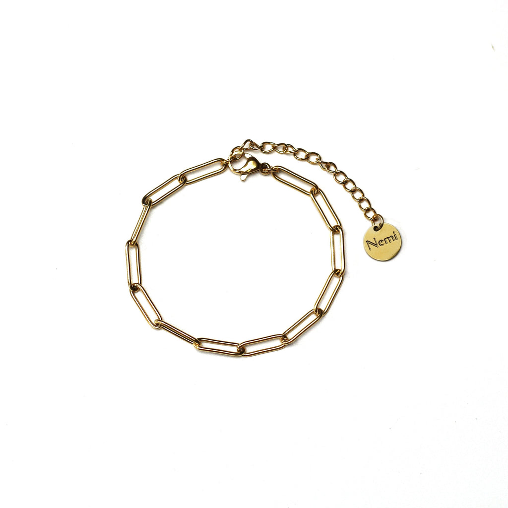 Plain Chain Bracelet Gold