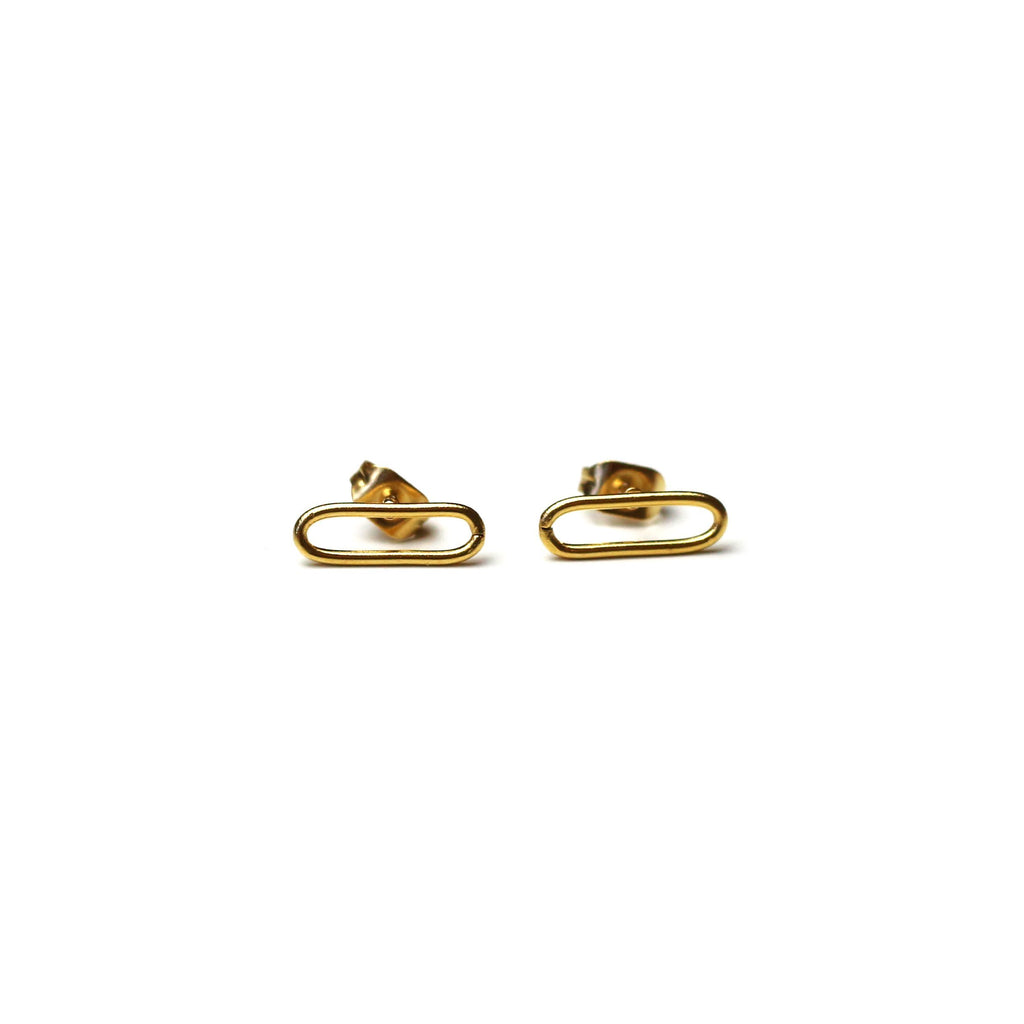 Plain Chain Earrings Gold