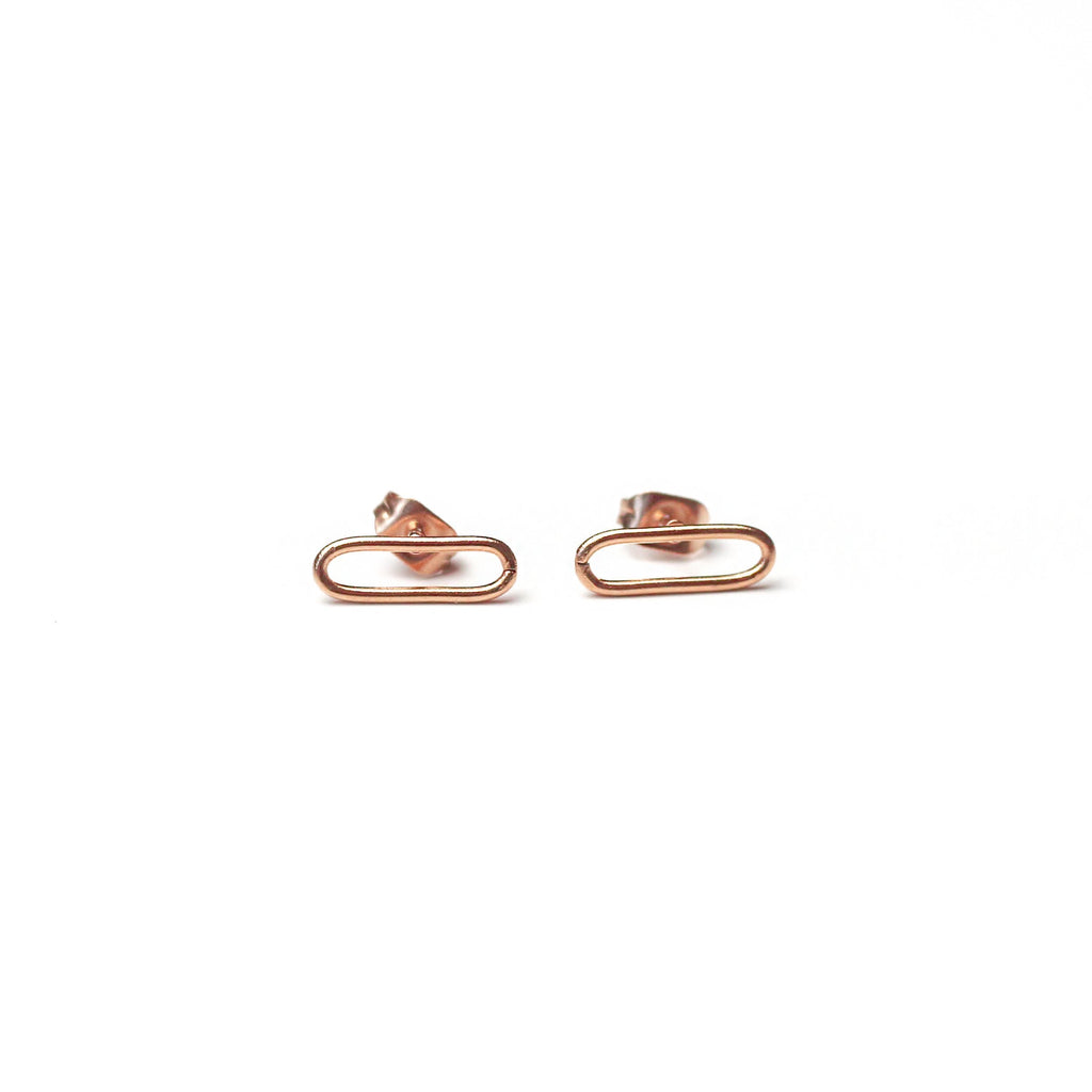Plain Chain Earrings Rosegold