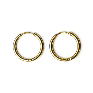 Plain Earrings Gold