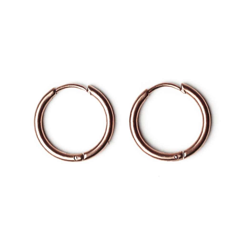 Plain Earrings Rosegold