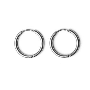 Plain Earrings Silver