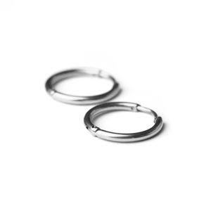 Plain Earrings Silver - Deal