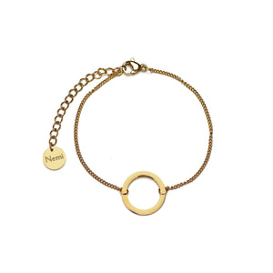 Around a Round Bracelet Gold