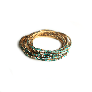 Tiny But Shiny Bracelet Green Gold