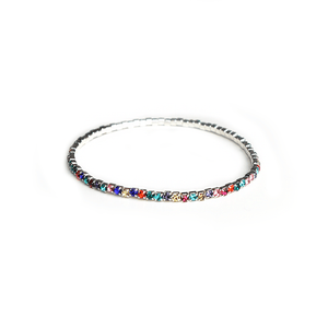 Tiny But Shiny Bracelet Rainbow Silver
