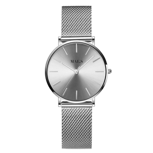 Double Silver Mesh Watch