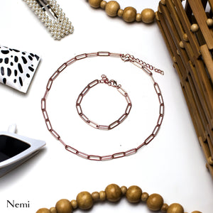 Plain Chain Necklace Rosegold - Deal