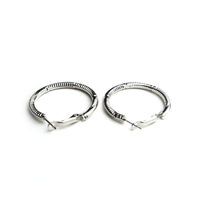 Hoolahoop Earrings Silver