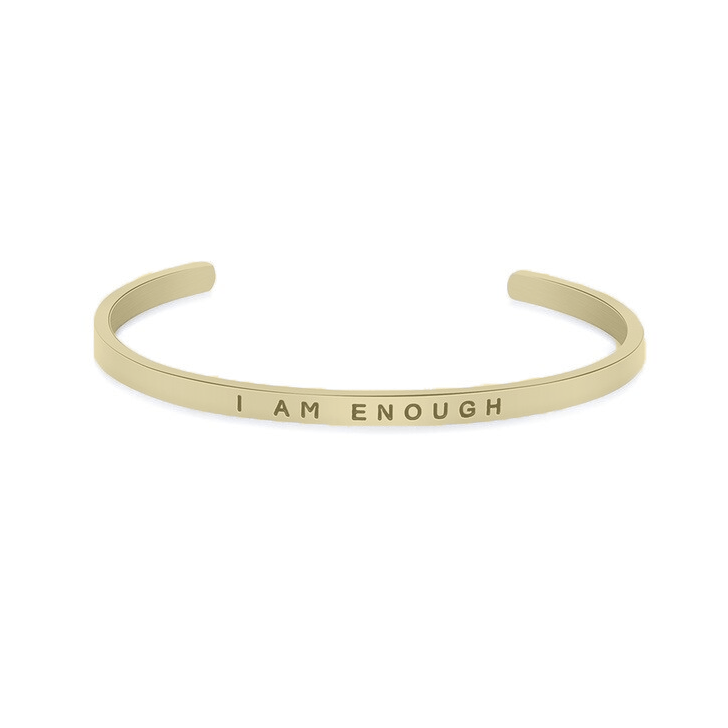I Am Enough Bracelet Gold