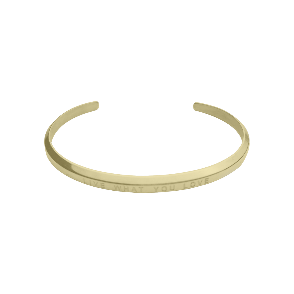 Live What You Love Bracelet Gold