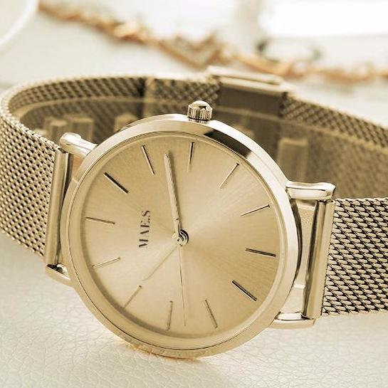 Double Gold Mesh Watch