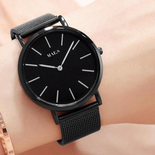 Double Black Mesh Watch