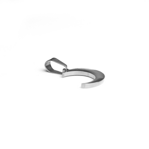 Till The Moon And Back Charm Silver