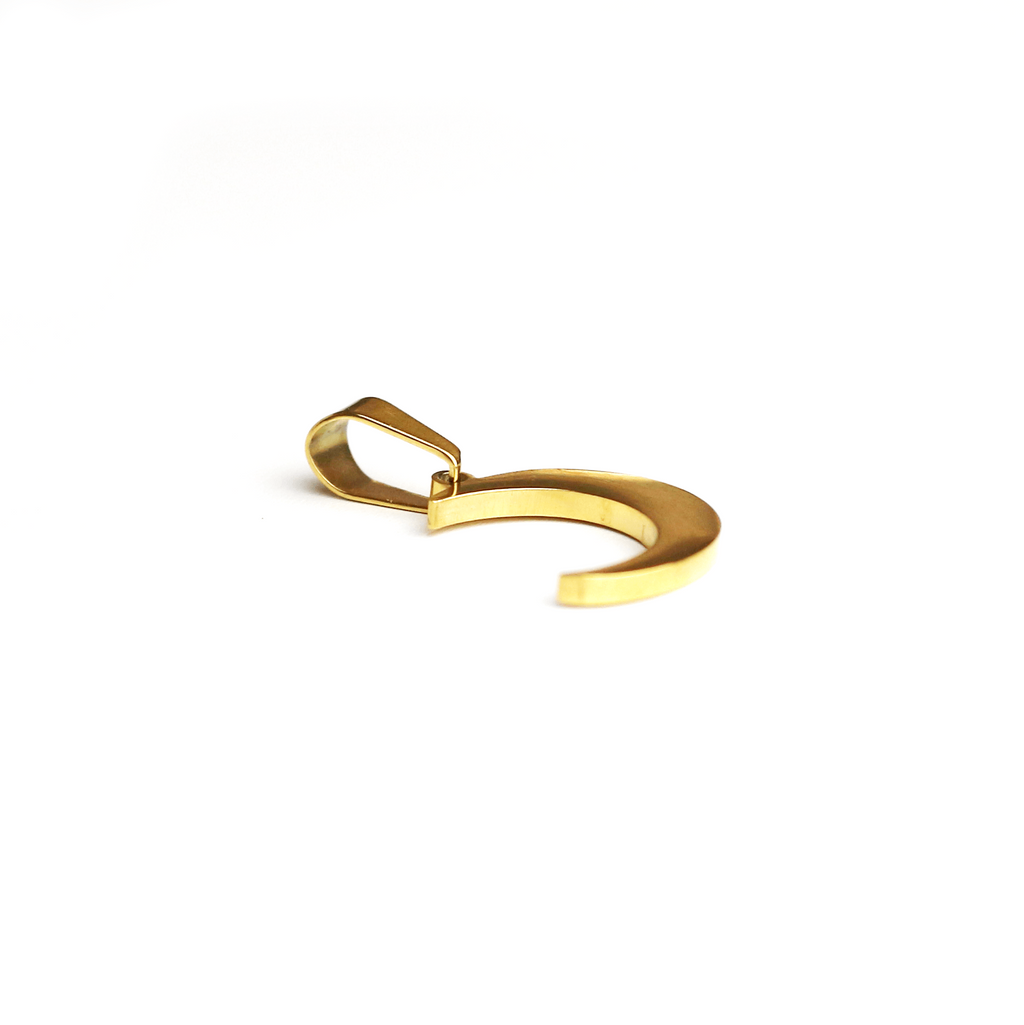 Till The Moon And Back Charm Gold