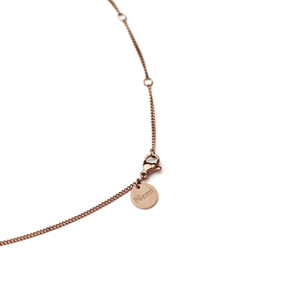Plain Necklace Rosegold