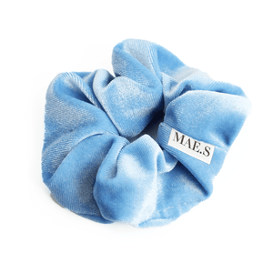 Velvet Scrunchie Baby Blue