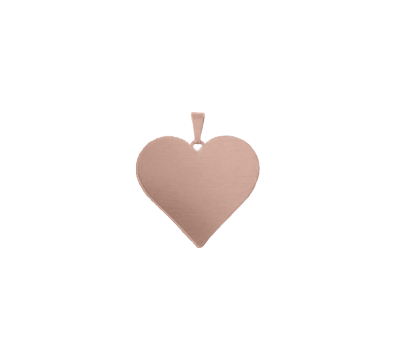 You've Got My Heart Charm Rosegold