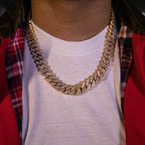Prong Set Cuban Link Necklace - GOLDENGILT