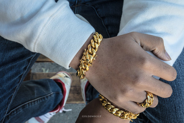 Cuban Link Ring - GOLDENGILT