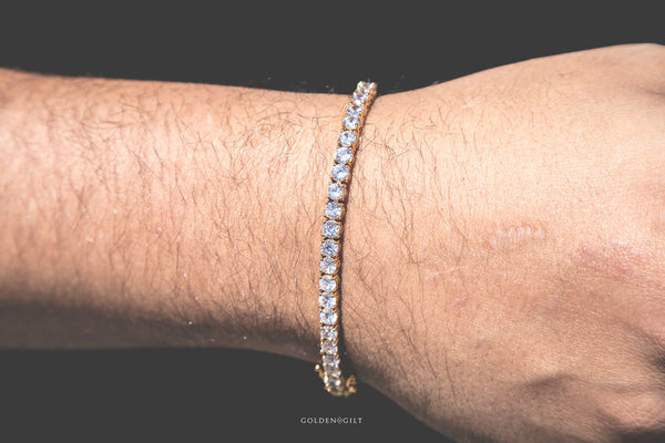 Tennis Bracelet - 18K Gold Plated - GOLDENGILT
