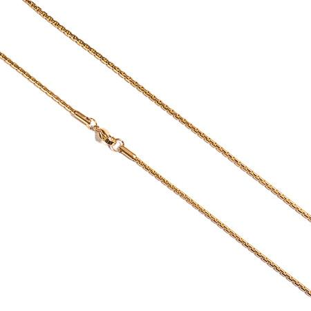 2mm Gold Plated Necklace - GOLDENGILT