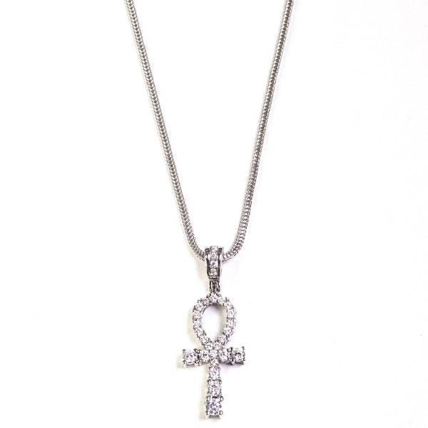 Ankh - Silver Polished - GOLDENGILT