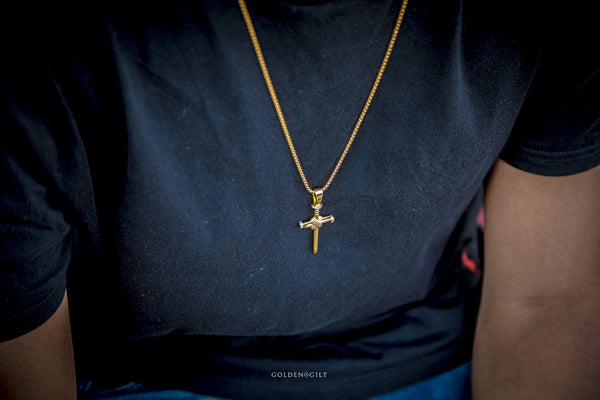 Nail Cross Pendant - GOLDENGILT