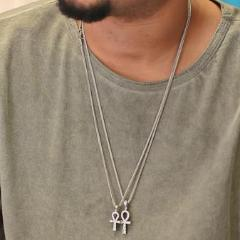 Mini Ankh - Silver Polished - GOLDENGILT