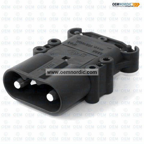 Image of REMA BATTERY CONNECTOR DIN 320 PLUG with contacts Standard Black Housing - 50mm2