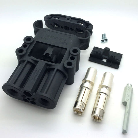 Image of REMA BATTERY CONNECTOR DIN 320 SOCKET with contacts Battery Acid Resistant Housing - 50mm2
