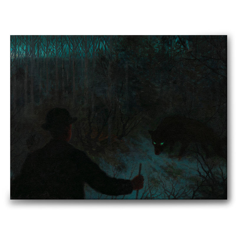 The Ash Lad and the Wolf - Canvas