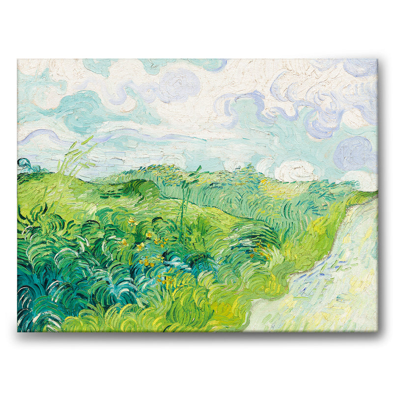 Green Wheat Fields, Auvers - Canvas