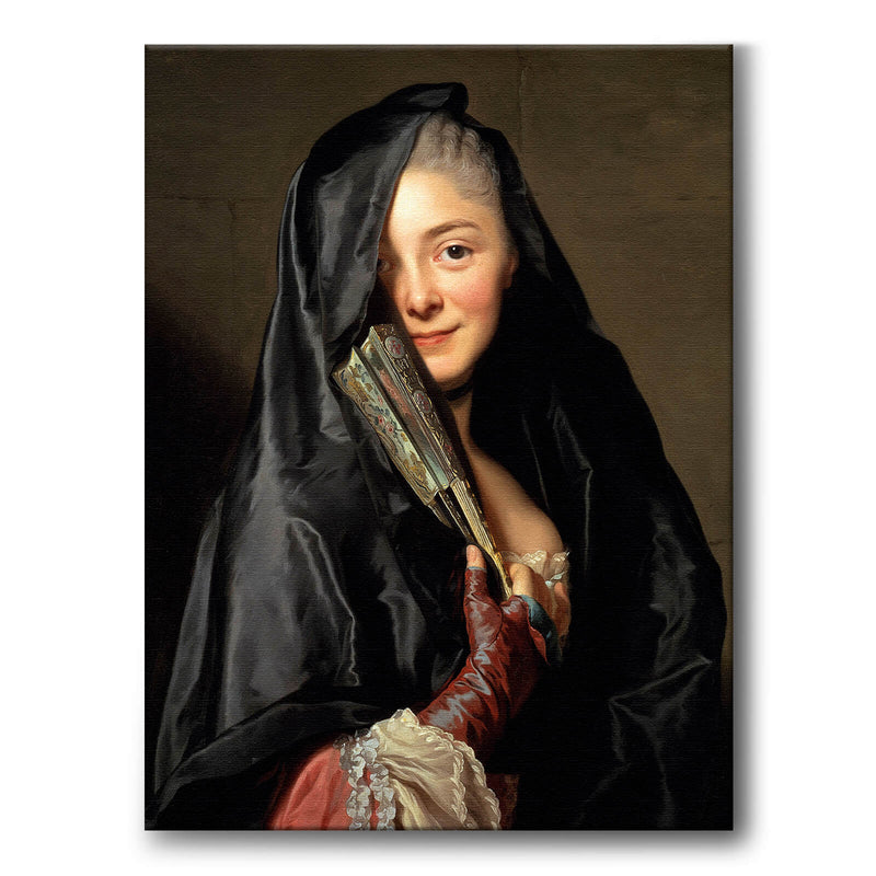 The Lady With The Veil - Canvas