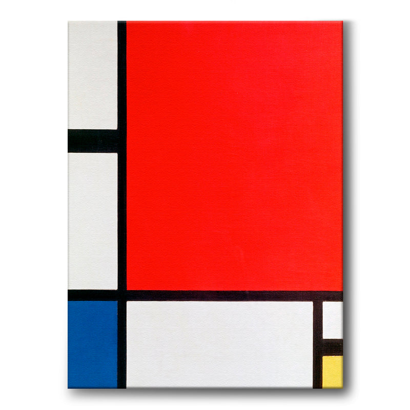 Composition with Red, Blue, and Yellow - Canvas