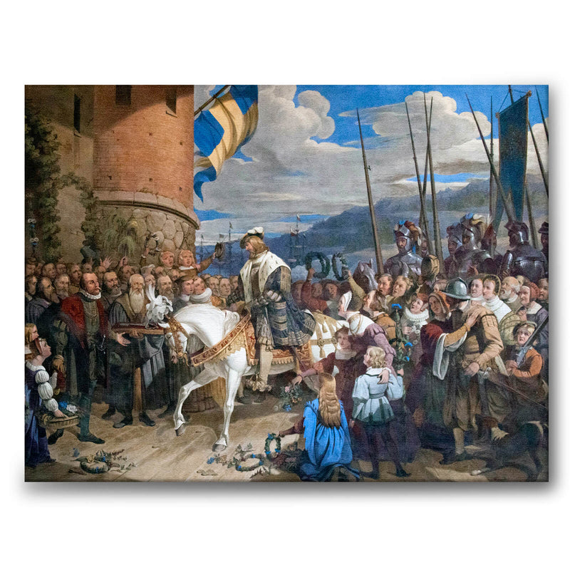 The Entry of Stockholm 1523 - Canvas