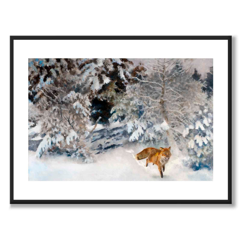 Fox in Winter Landscape