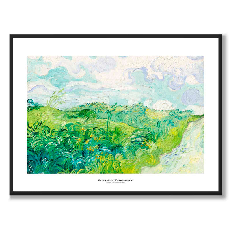 Poster Green Wheat Fields, Auvers, Vincent Van Gogh