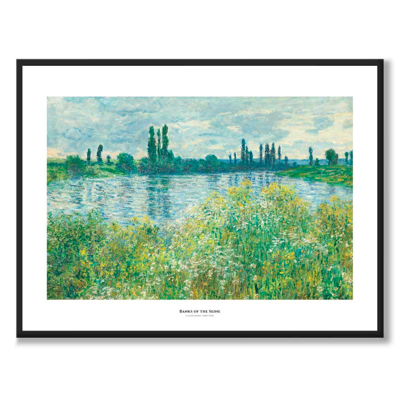 Claudand Monet Poster - Banks of the Seine, Vétheuil