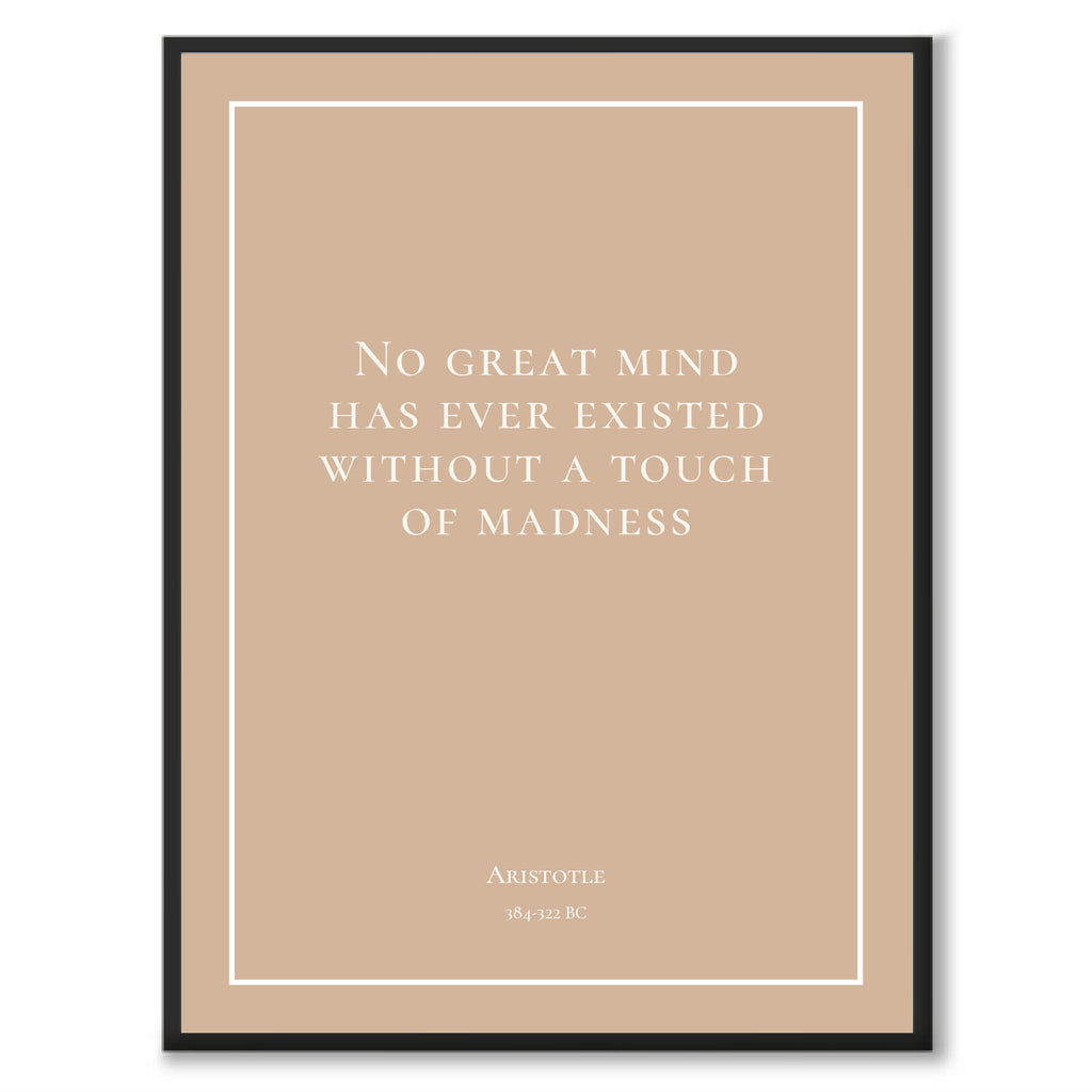 1. Aristotle - No great mind has ever existed without a touch of madness - Historly AB