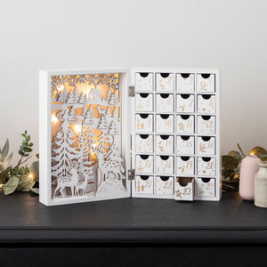 LED Holz Adventskalender klappbar