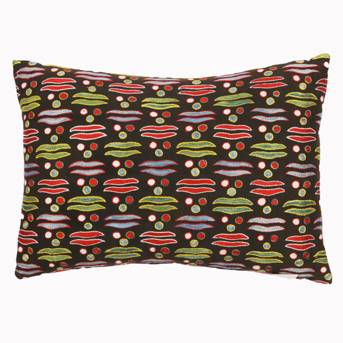 Cintemani black suzani pillow limited edition