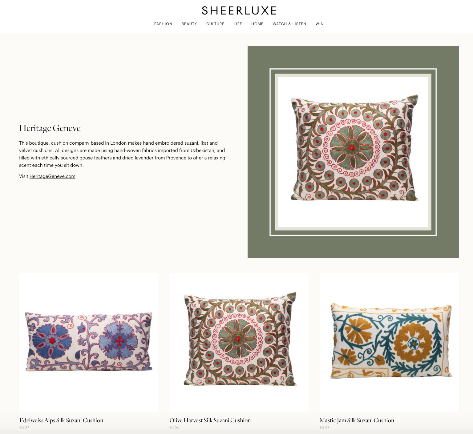 heritage geneve interiors what's new this month
