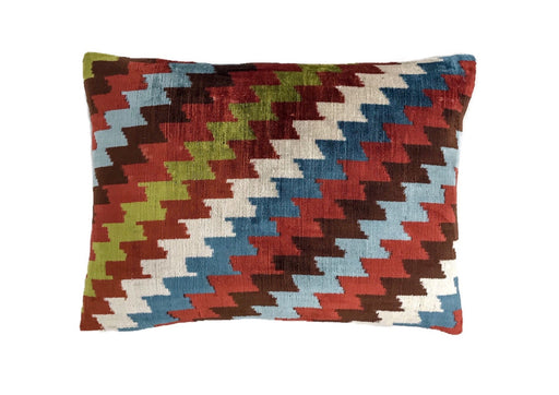 Agora Velvet Cushion Double Sided Ikat