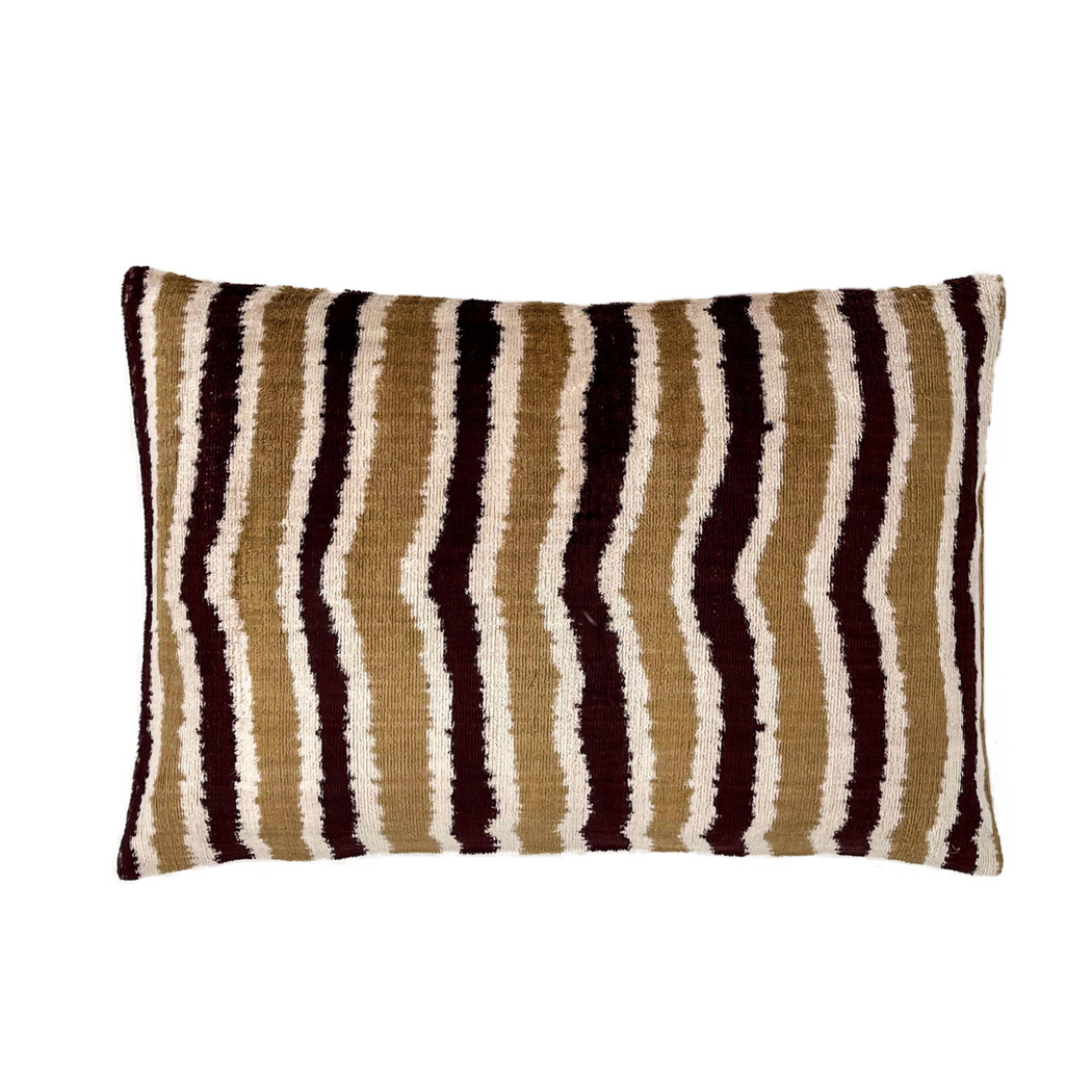 Velvet Ikat silk multicolor Heritage Cushion Cover