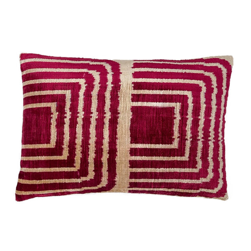 Velvet Ikat double sided silk cotton cushion pillow cover