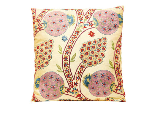 Suzani / Ikat Silk Floral Embroidered Heritage Style Cushion