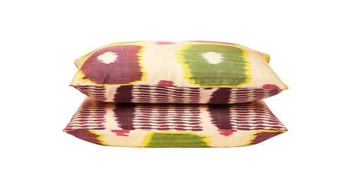 Silk Ikat Double Sided Luxury Cushion